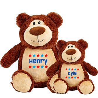 personalised brown bear soft toys