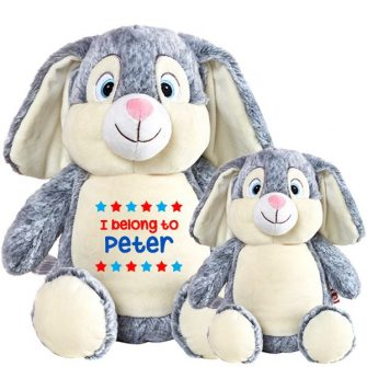 grey rabbit soft toys