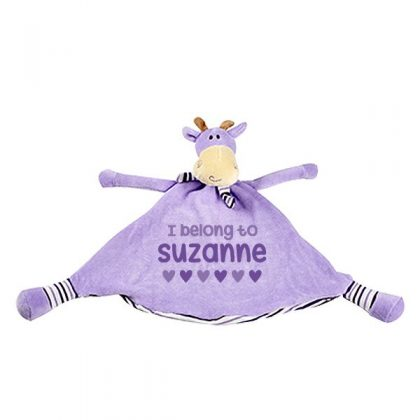 personalised baby girls blankies