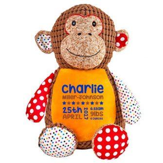 orange monkey soft toy