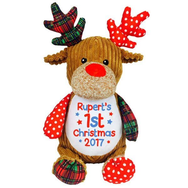 personalised christmas reindeer newborn baby gifts baby tots