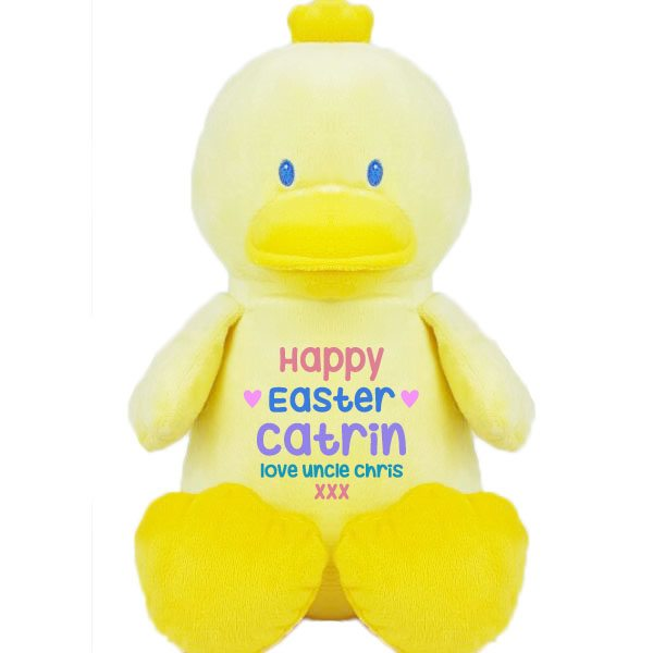 Newborn baby gifts baby tots personalised soft toys duck soft toys personalised duck soft toys negle Images