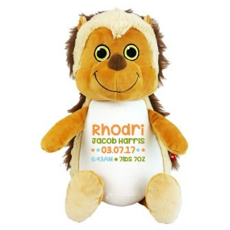 personalised hedgehog soft toy