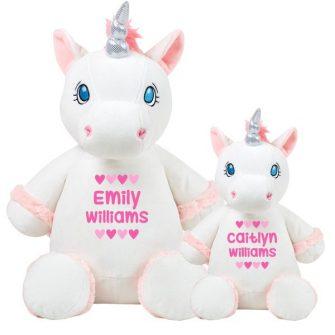 white unicorn soft toys