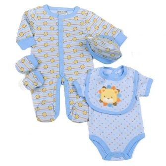 Lion babies layette set