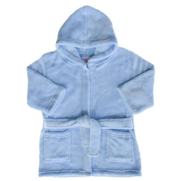 Personalised Blue Baby Dressing Gown   Baby Bath Robes   Baby Tots