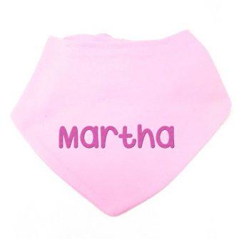 personalised baby bandana bib