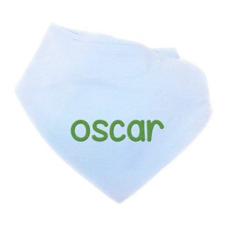 personalised baby blue bandana