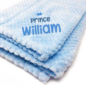 personalised blue baby blankets