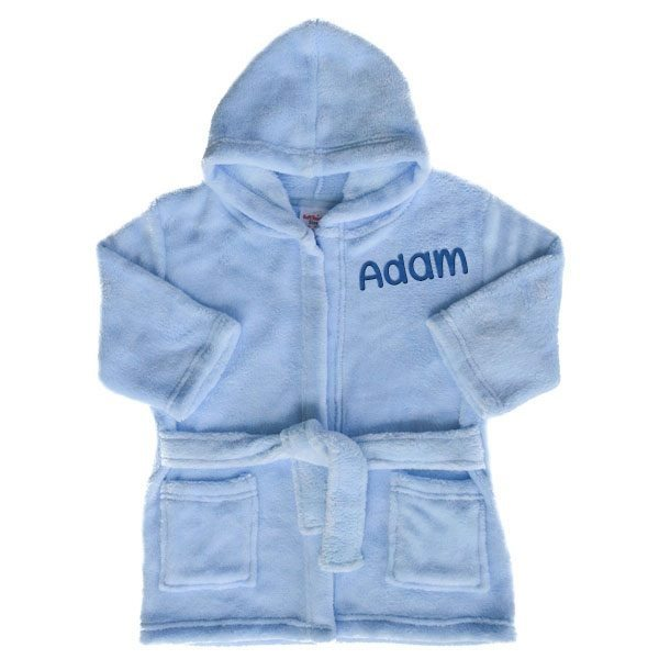 dea6a4365 Personalised Blue Baby Dressing Gown