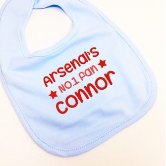 personalised baby football bibs uk