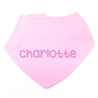 personalised baby girl bandana pink