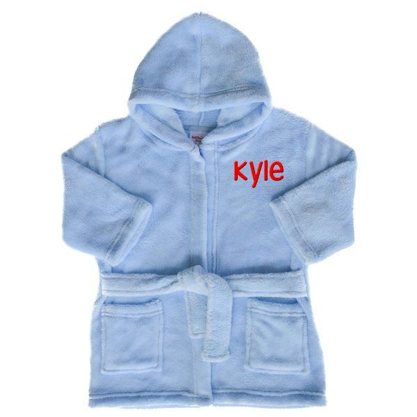 Personalised Blue Baby Dressing Gown | Baby Bath Robes | Baby Tots