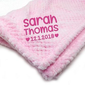 personalised pink baby blankets for newborn babies
