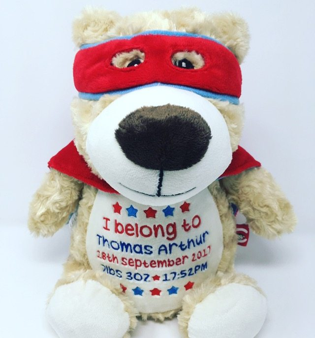 big brother gifts, personalised big brother gifts, personalised superhero teddy bears