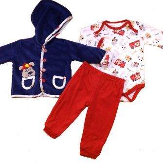 baby boys fireman puppy set