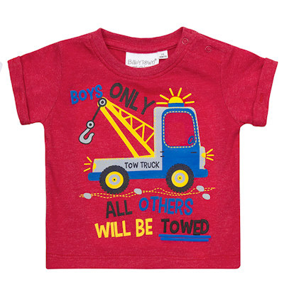 Boys Tow Truck T Shirt Babytots Personalised Soft Toys
