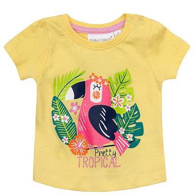 girls yellow tropical t shirt uk