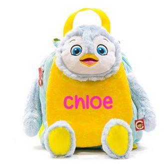 personalised penguin backpack