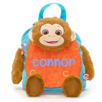 personalised monkey backpack