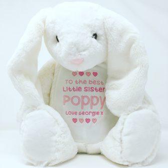 personalised girls rabbit