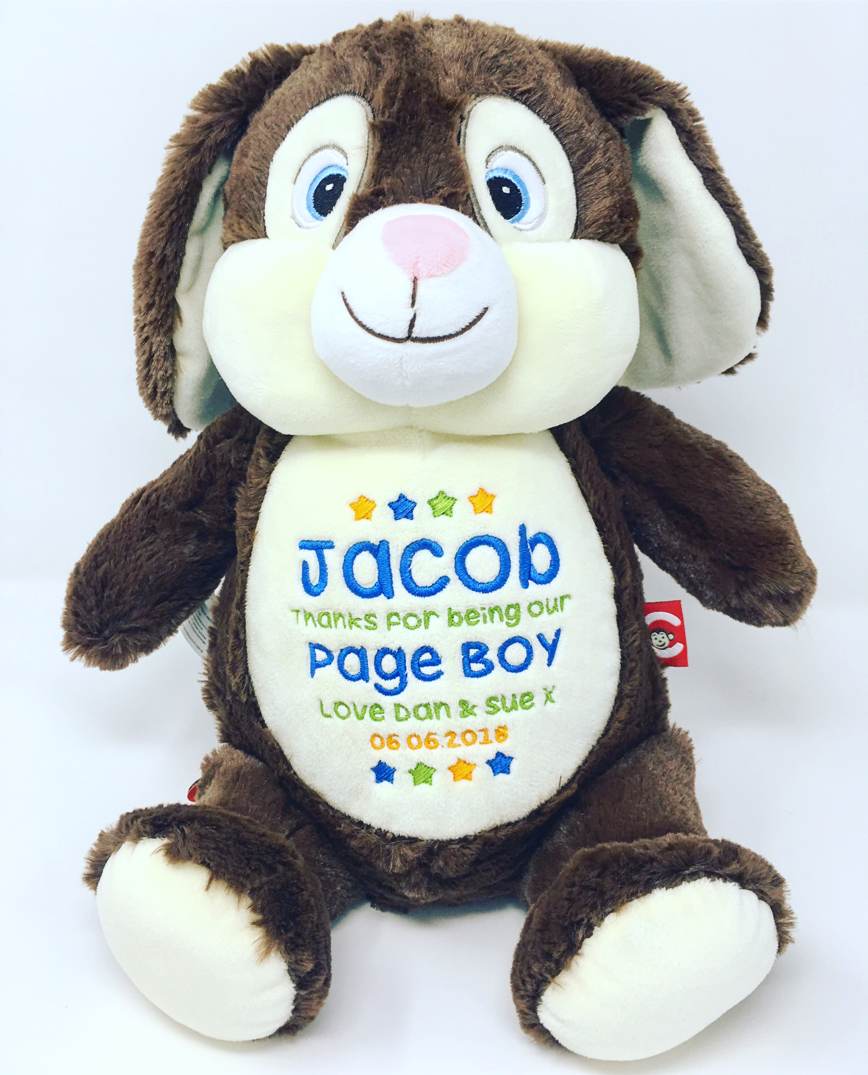 Personalised Rabbit Soft Toys Newborn Baby Boy Gifts