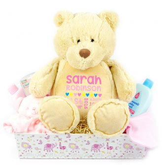 personalised gift hampers, personalised baby gift baskets uk