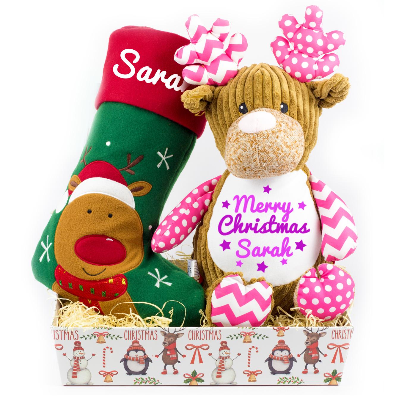 Christmas Hampers.Personalised Girls Christmas Hamper
